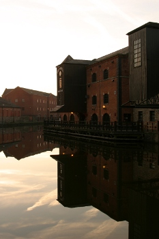Wigan Pier in reflection
